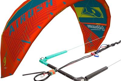 Airush Lithium 9m Acid Teal + Airush BAR CORE CLEAT 45cm kopen